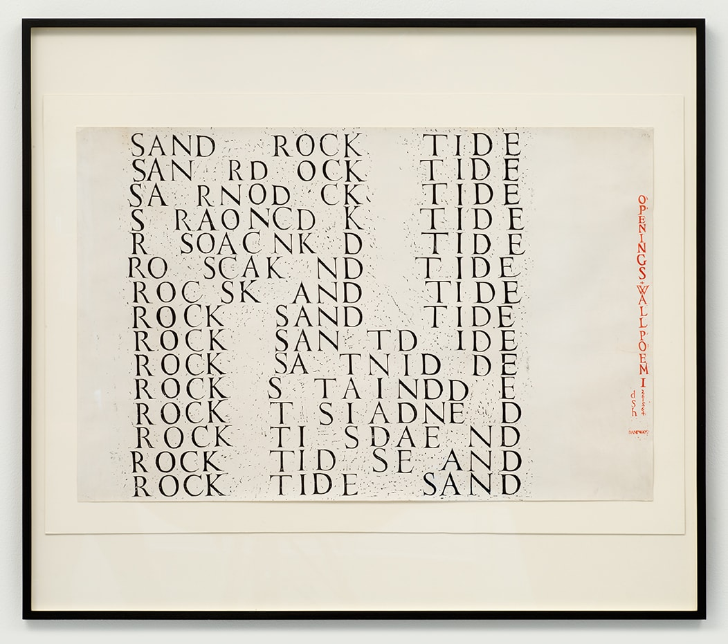 Dom Sylvester HOUEDARD Sand Rock Tide, 1964 Silkscreen on paper Unframed: 58.5 x 91.2 cm 1 of only 5 known copies