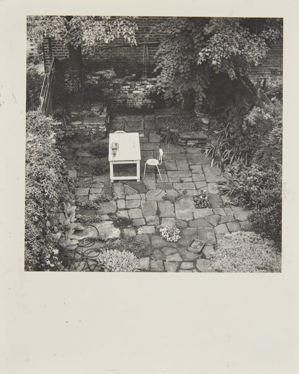 Shelagh WAKELY It is so green outside it is difficult to leave the window, 1974-79 Gelatin silver print 13 x 10 cm