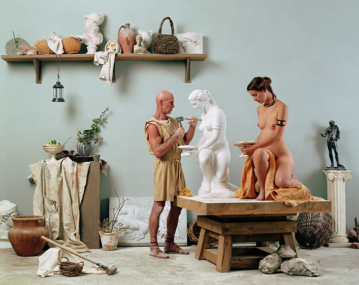 """Eleanor ANTIN The Artist's Studio from """"The Last Days of Pompeii"""" , 2002 Chromogenic print mounted on board 47 x 60 x 4.5 cm Edition 1 of 3"""