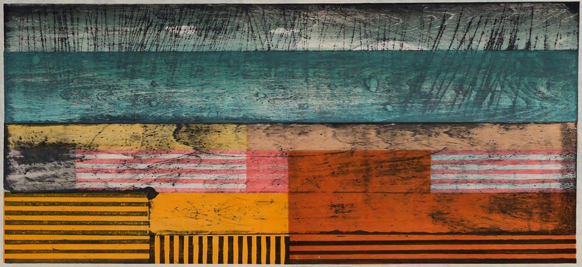 Paul Furneaux RSA Small Island: Rain Mokuhanga (Japanese woodblock print) 29 x 59 cm Edition of 10