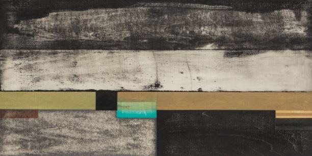 Paul Furneaux RSA Calm Sea Mokuhanga (Japanese woodcut print) 29 x 59 cm Edition of 15
