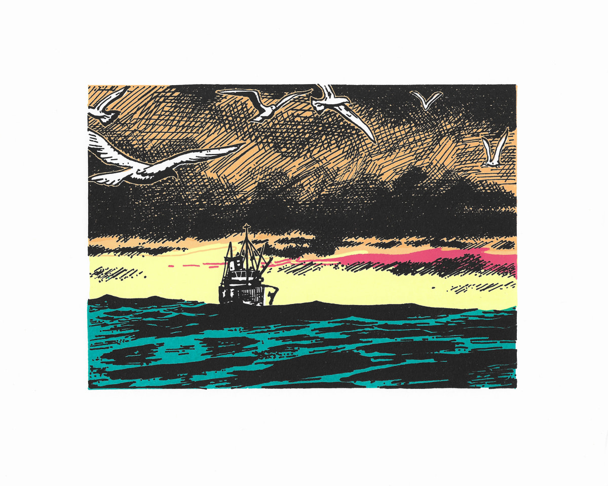 David Mach HRSA Passage, 2019 Hand-finished screenprint 20 x 25.5 cm Edition of 50