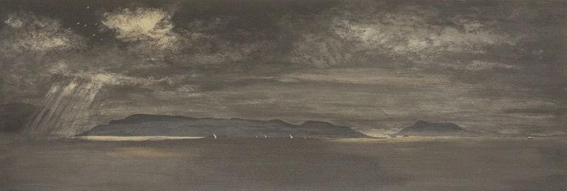 Frances Walker RSA Ferry Crossing the Sound, 2018 Screenprint 33 x 97 cm Edition of 40