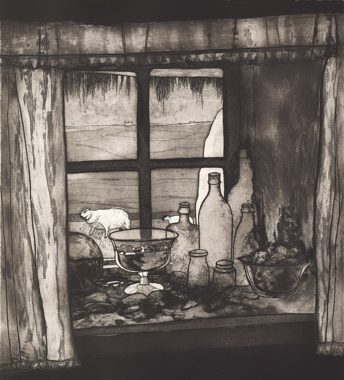 Frances Walker RSA Tiree Window, 2017 Etching 44 x 40 cm Edition of 30