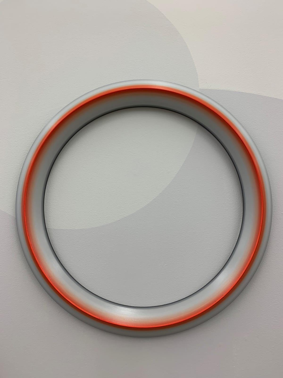 Marion Borgelt Luminous Void: Piece No 13, 2019 oil, timber 58cm ø x 4cm