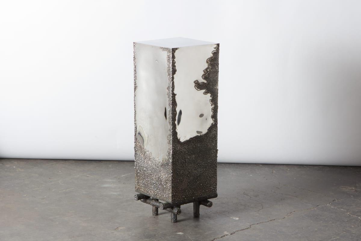 Michael Gittings When We're Gone Plinth, 2019 Stainless Steel 76 x 25 x 25 cm Unique