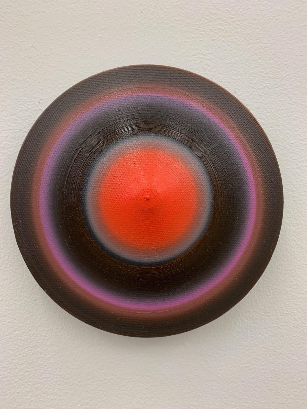 Marion Borgelt Luminous Void: Piece No 12, 2019 oil, canvas, timber, 3D element 18cm ø x 4cm