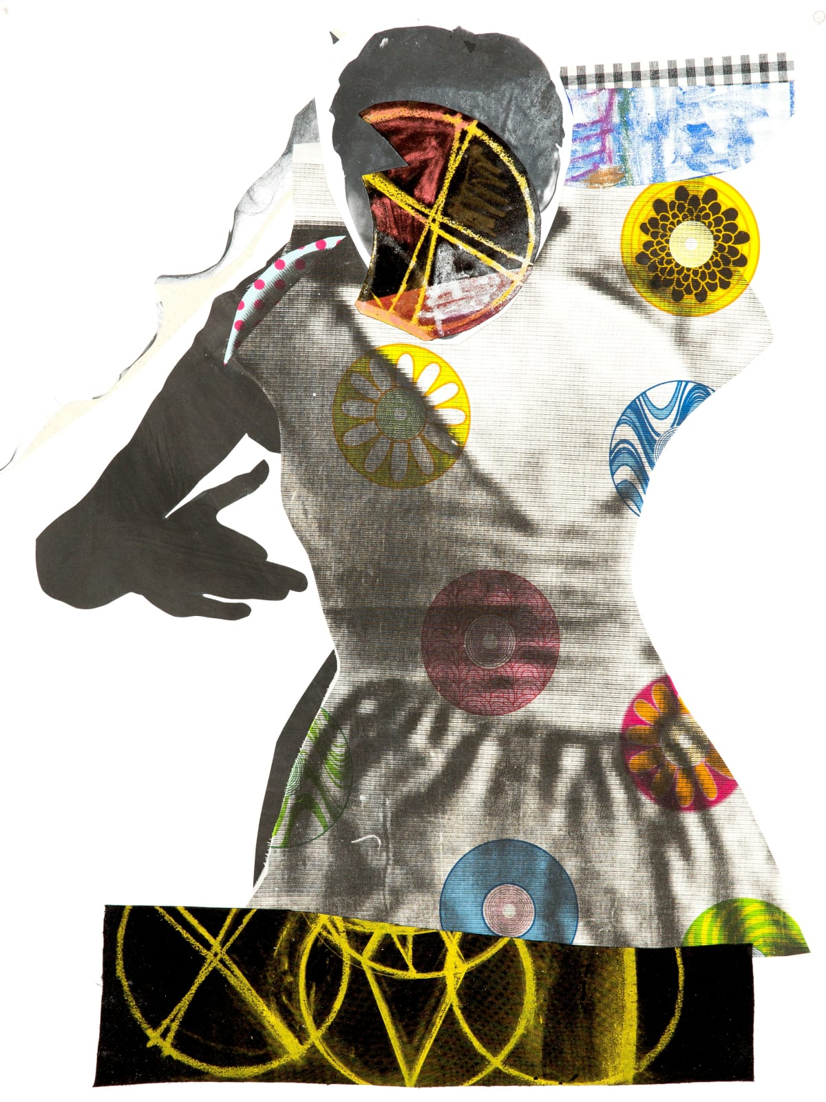 Sally Smart Choreographing Collage (Folk Geometry), 2013 collage elements on pape