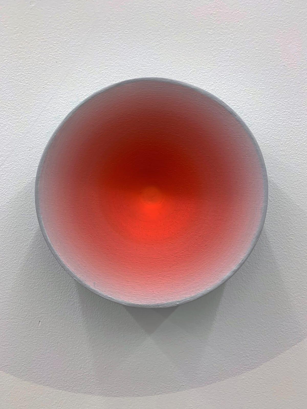 Marion Borgelt Luminous Void: Piece No 16, 2019 oil, canvas, timber, 3D element 25cm ø x 8cm