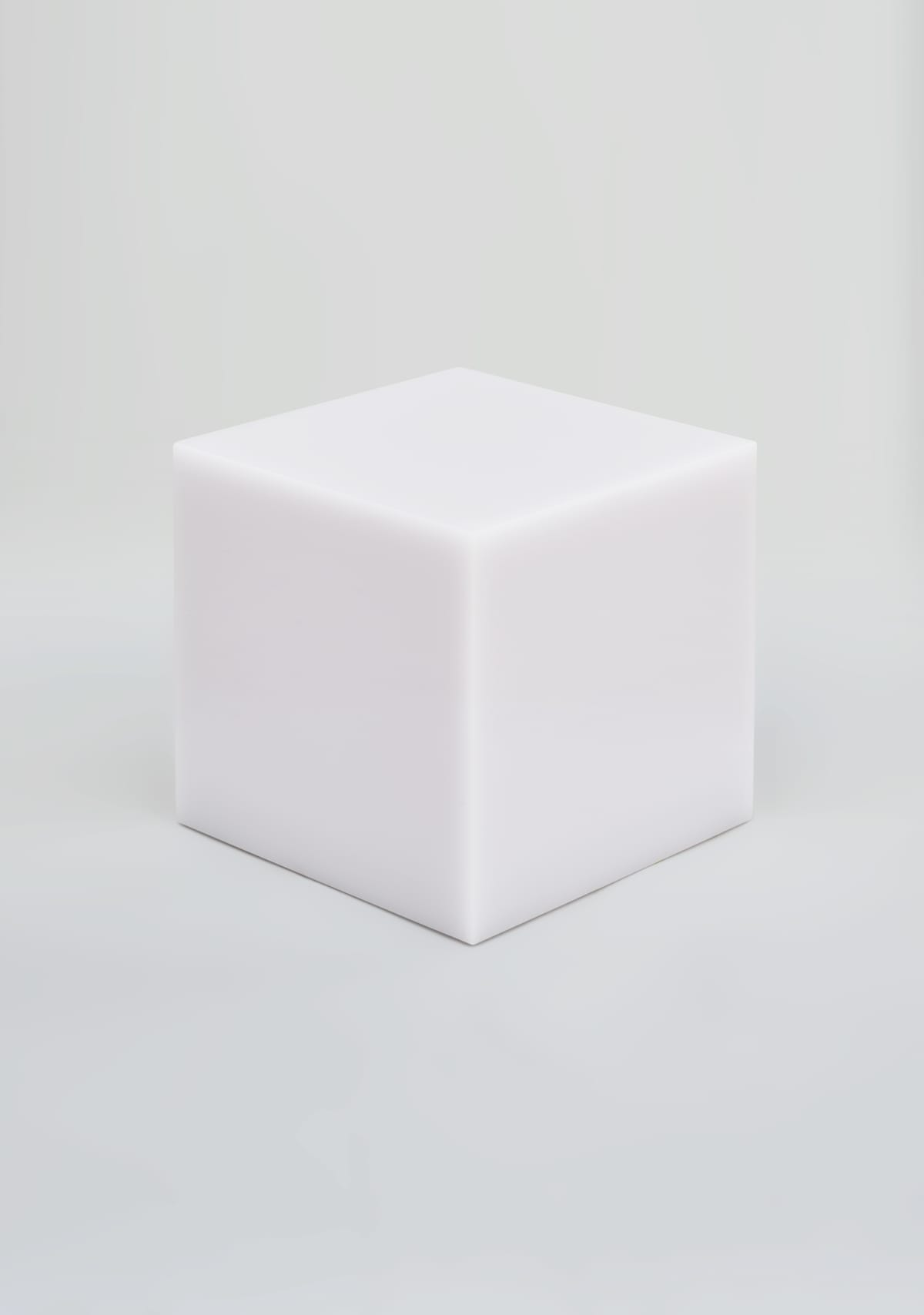 Sabine Marcelis Candy Cube Marshmellow Polished, cast polyester resin/tempered steel, wax finish 50 x 50 x 50 cm