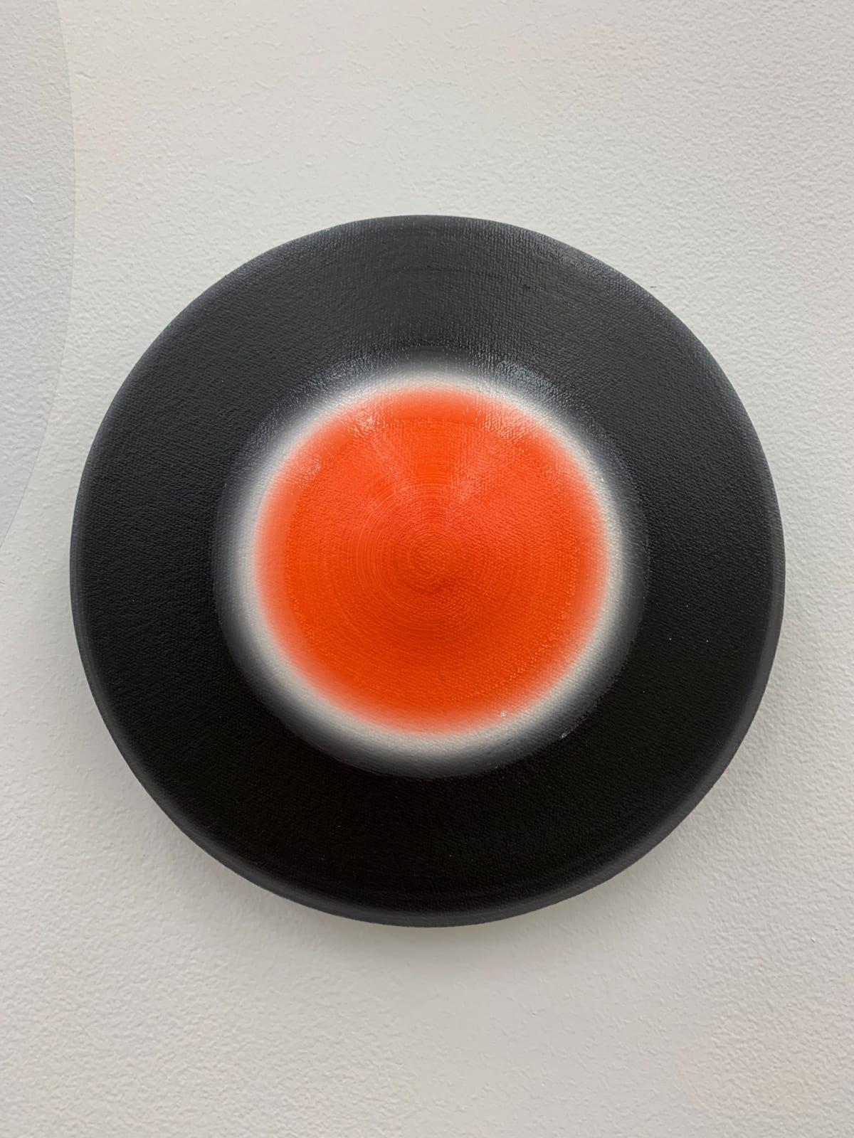 Marion Borgelt Luminous Void: Piece No 2, 2019 oil, canvas, timber, 3D element 20cm ø x 4cm