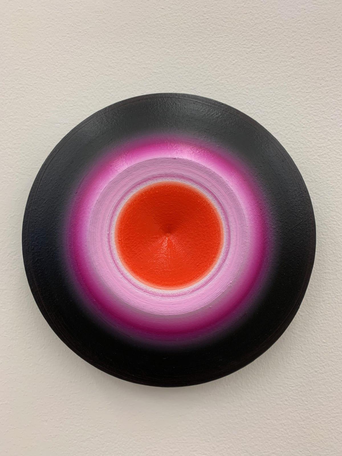 Marion Borgelt Luminous Void: Piece No 4, 2019 oil, canvas, timber, 3D element 20cm ø x 4cm
