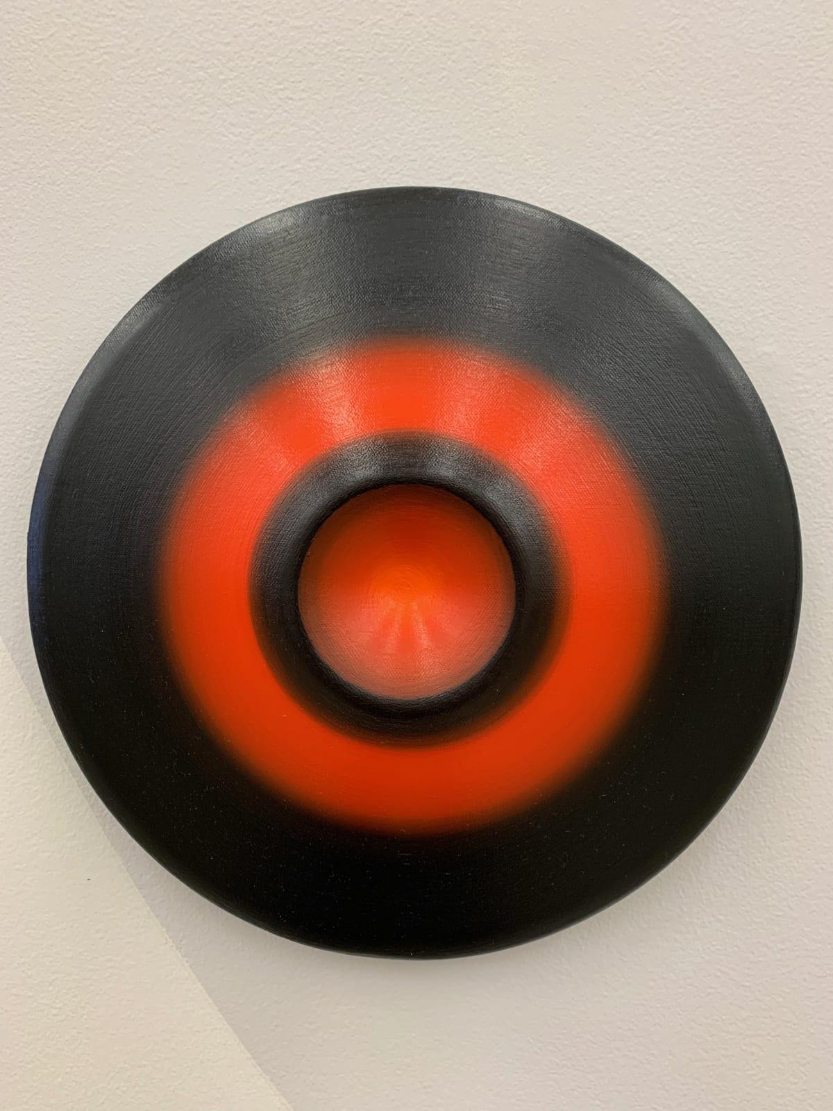 Marion Borgelt Luminous Void: Piece No 11, 2019 oil, canvas, timber, 3D element 30cm ø x 5.5cm