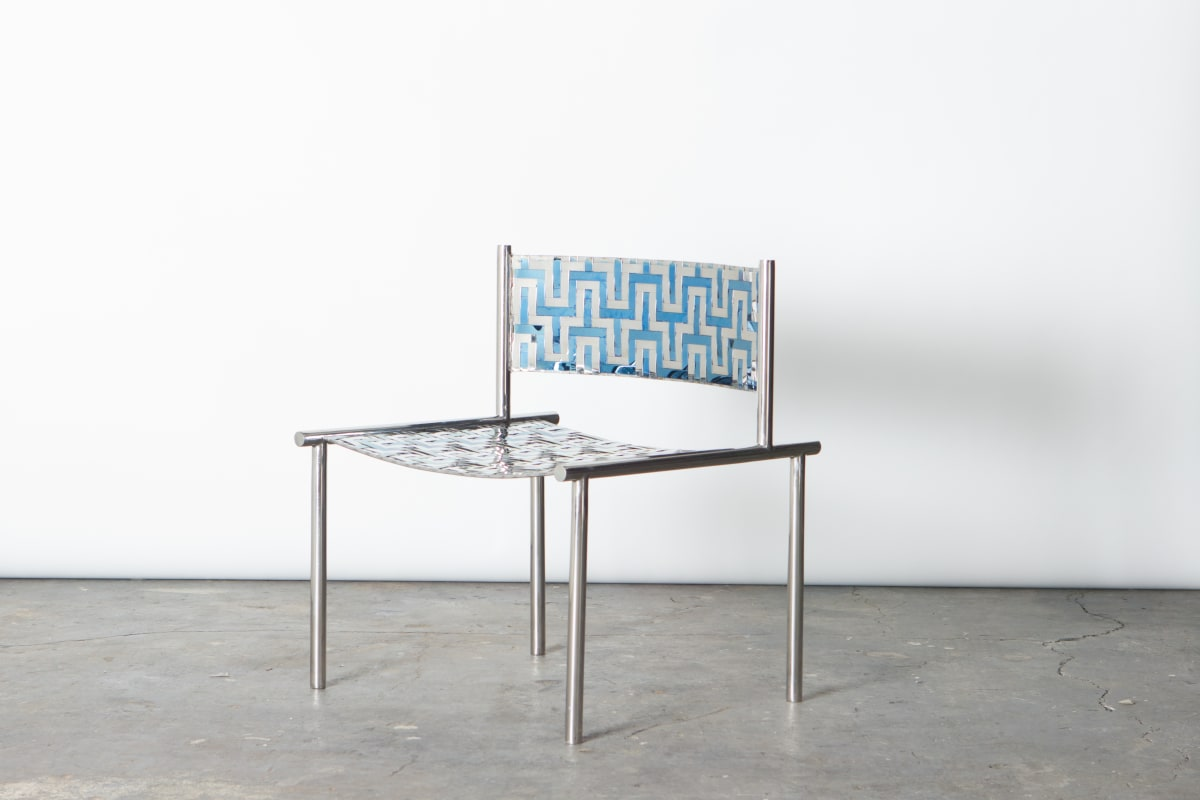 Michael Gittings Woven Low Chair, 2019 Stainless Steel 68 x 65 x 55 cm Edition of 4