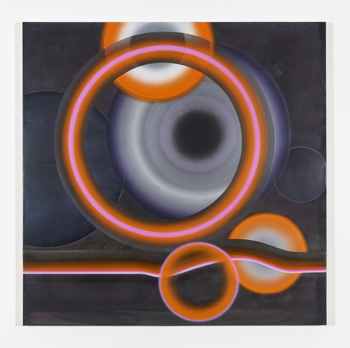 Marion Borgelt Exploding Stars and Orange Giants, 2019 oil, acrylic on canvas 120 x 120 cm