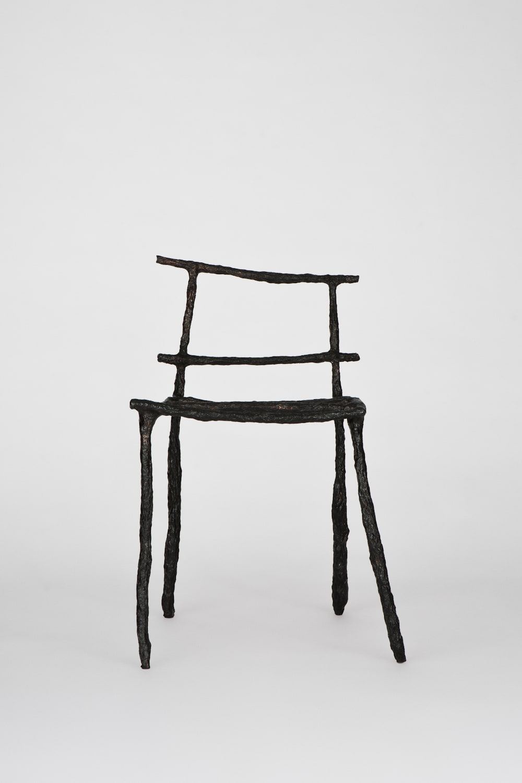 Michael Gittings Stick Chair, 2018 Blackened Electroformed Copper 45 x 80 x 45 cm Unique