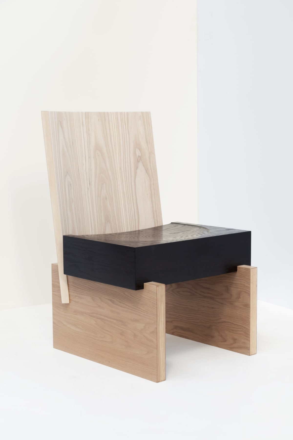 Jonathan West Heavy Chair American ash, American oak, ebonised oak 86.5 x 56 x 58 cm