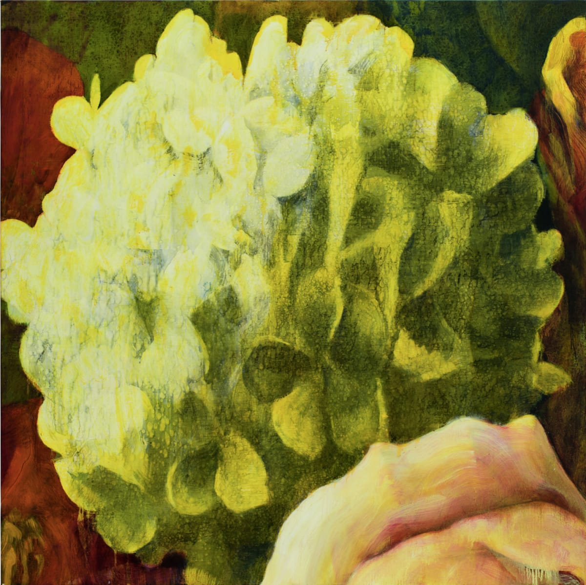 Tim Maguire Untitled 97U25 (Hydrangea), 1997 Oil on canvas signed and dated on stretcher 150 x 150 cm
