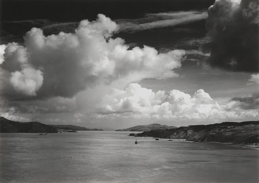 Ansel Adams, Golden Gate Before the Bridge, 1932