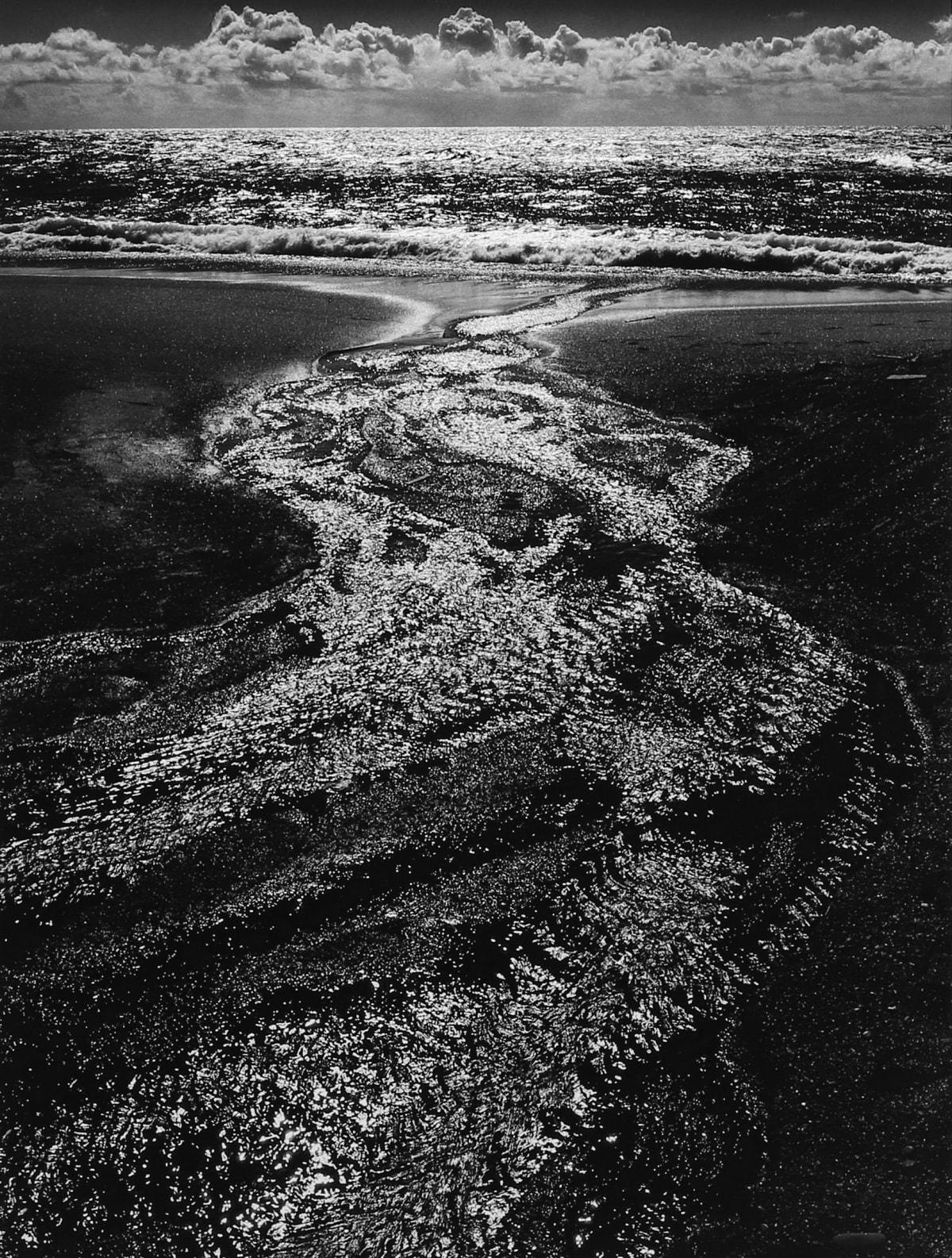 Ansel Adams, Stream, Sea, Clouds, Rodeo Lagoon, CA, 1962