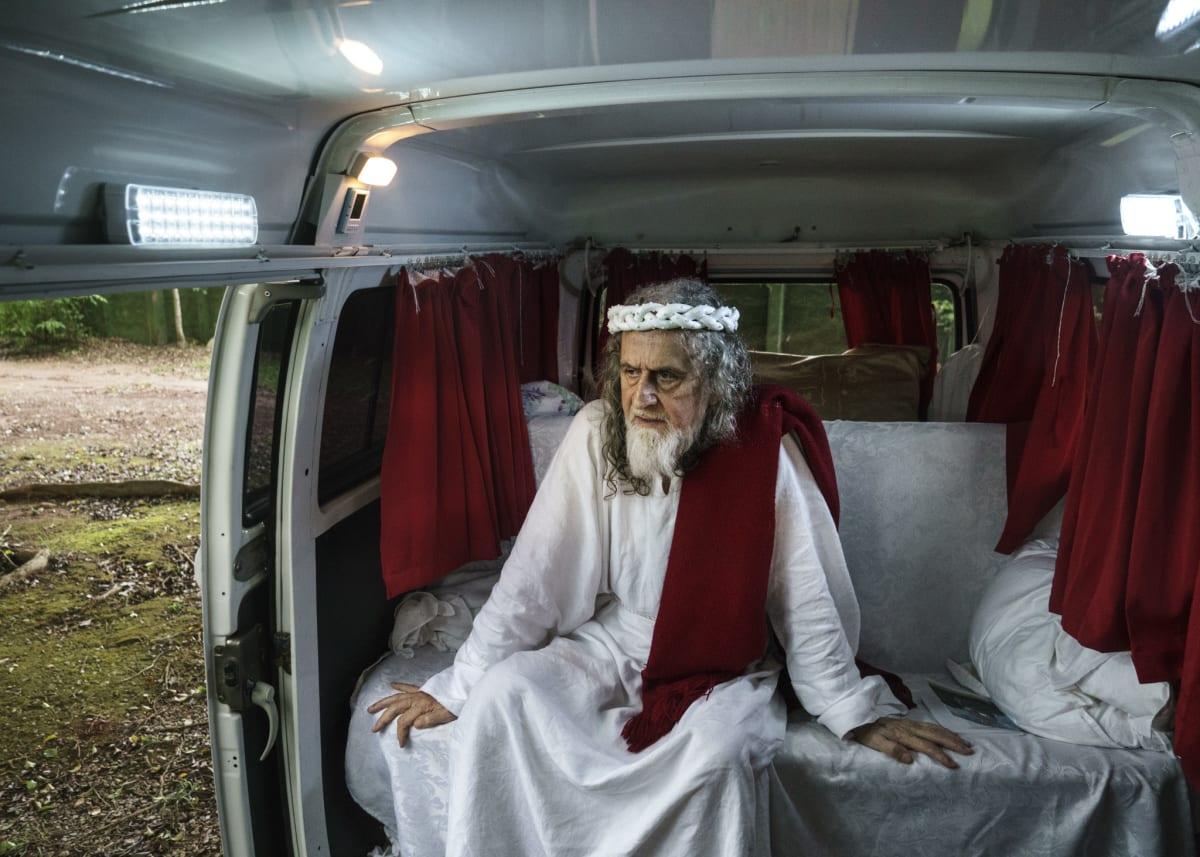 Jonas Bendiksen, INRI Cristo in his van, Brazil, 2014
