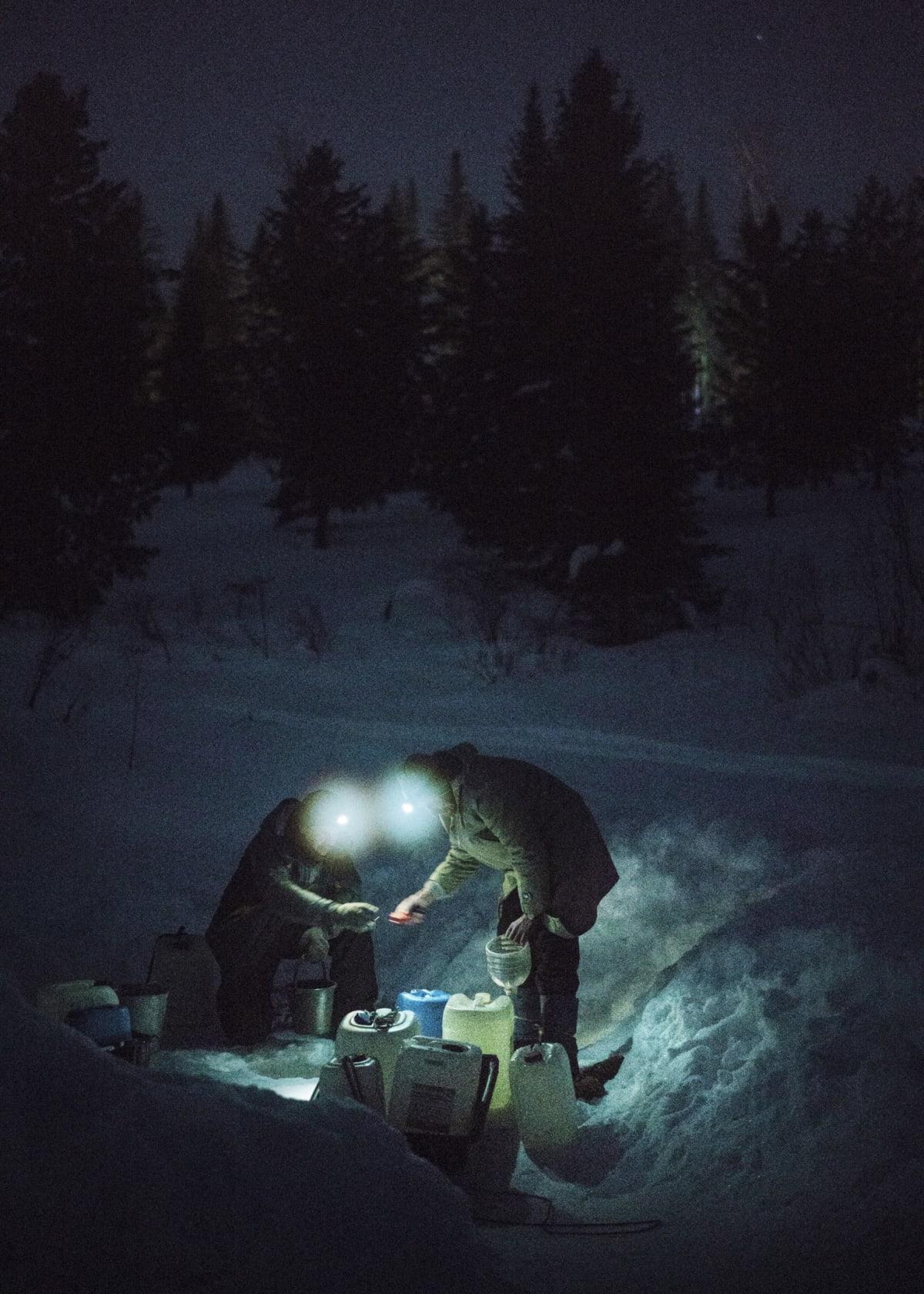 Jonas Bendiksen, Fetching water from the stream, Russia, 2016