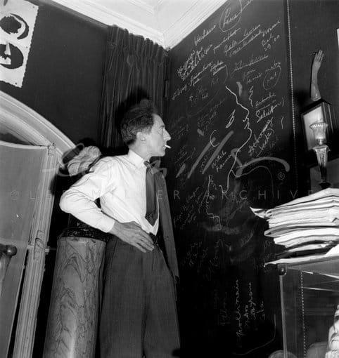 Lee Miller, Jean Cocteau at home, Paris, France, 1944
