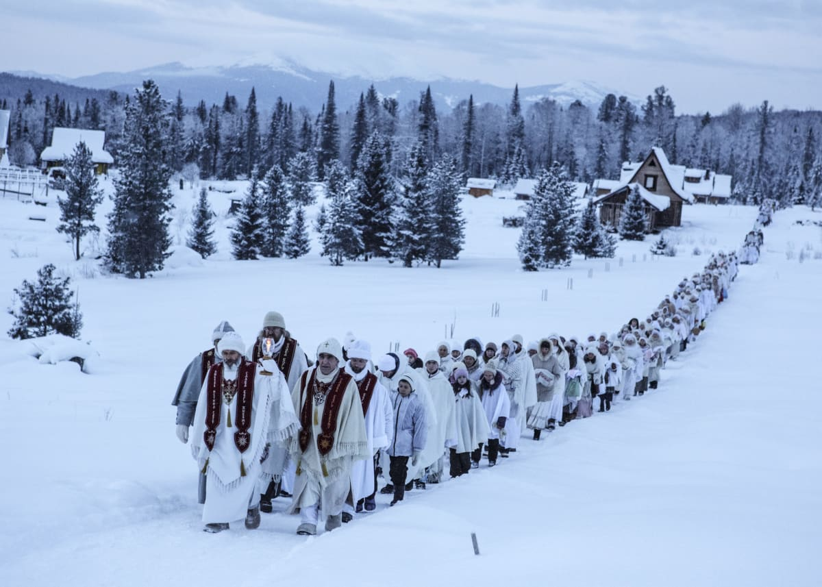 Jonas Bendiksen, Christmas pilgrimage, Russia, 2015