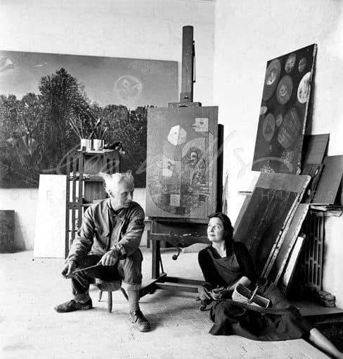 Lee Miller, Max Ernst and Dorothea Tanning, Huismes, France, 1955