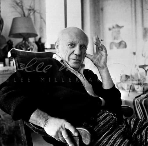 Lee Miller, Picasso, Villa la Californie, Cannes, France, 1956