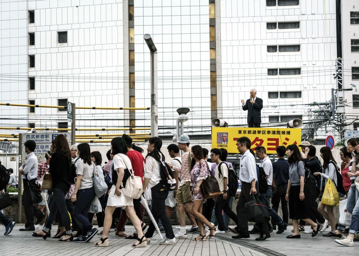 Jonas Bendiksen, Jesus Matayoshi preaching #2, Japan, 2016