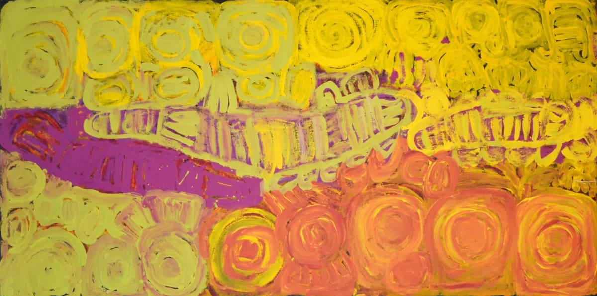 Sonia Kurarra Martuwarra acrylic on canvas 60 x 120 cm