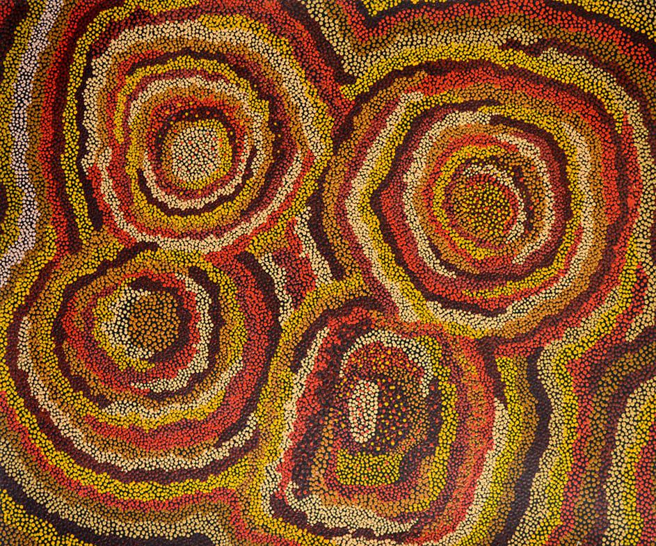 Anton Baker Wanampi (water 1 serpent) acrylic on linen 101.5 x 121 cm