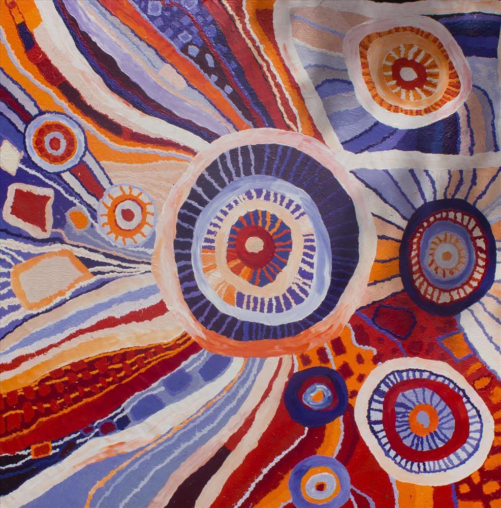 Beryl Jimmy Nyangatja Watarru acrylic on linen 200 x 200 cm
