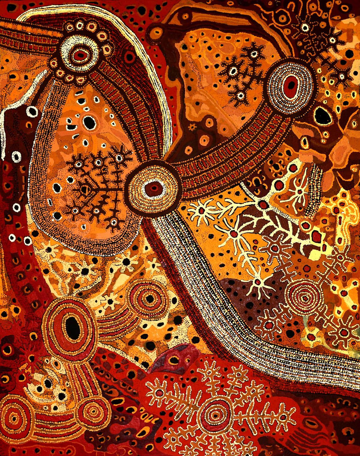 Pauline Minmila Wangin Kapi Tjukula (waterhole), 2019 Acrylic on linen 152 x 122 cm