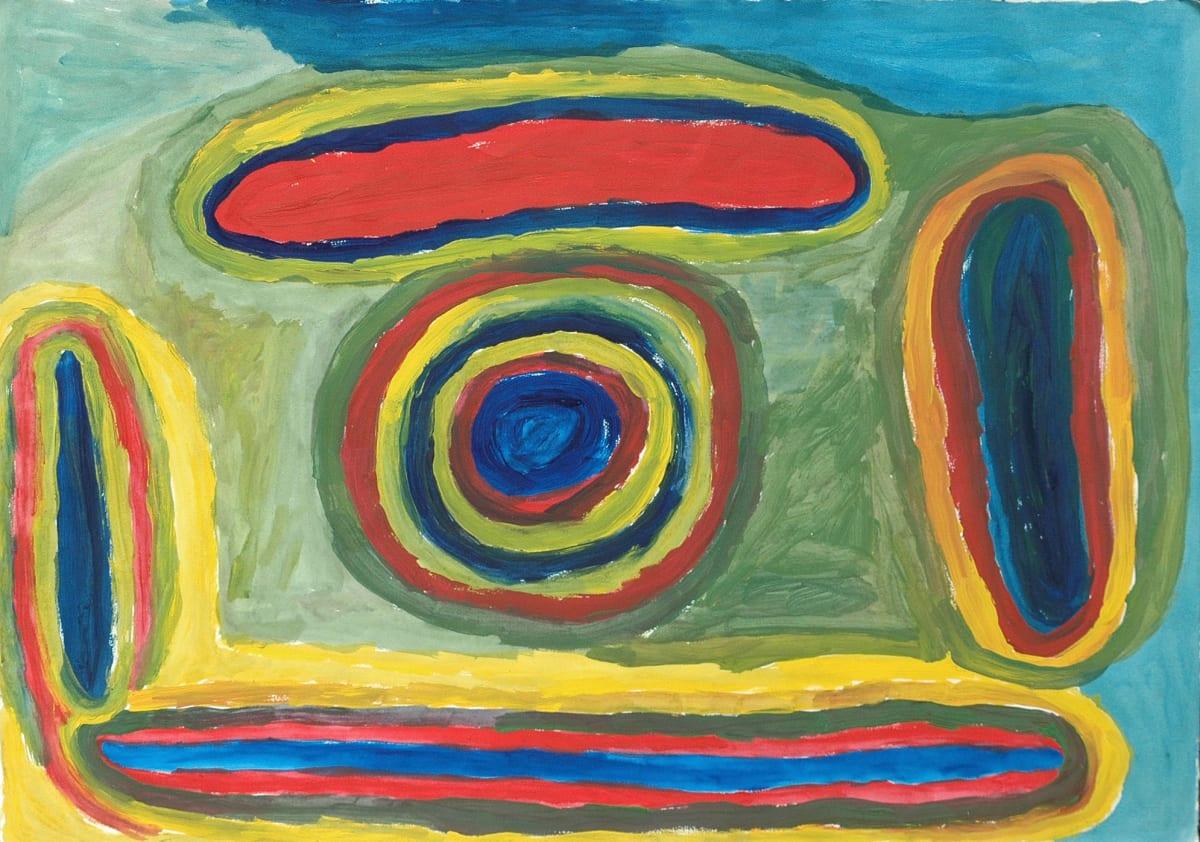 Jinny James Waterholes and Sandhills atelier artist acrylic on 250gsm velin arches 75 x 105 cm