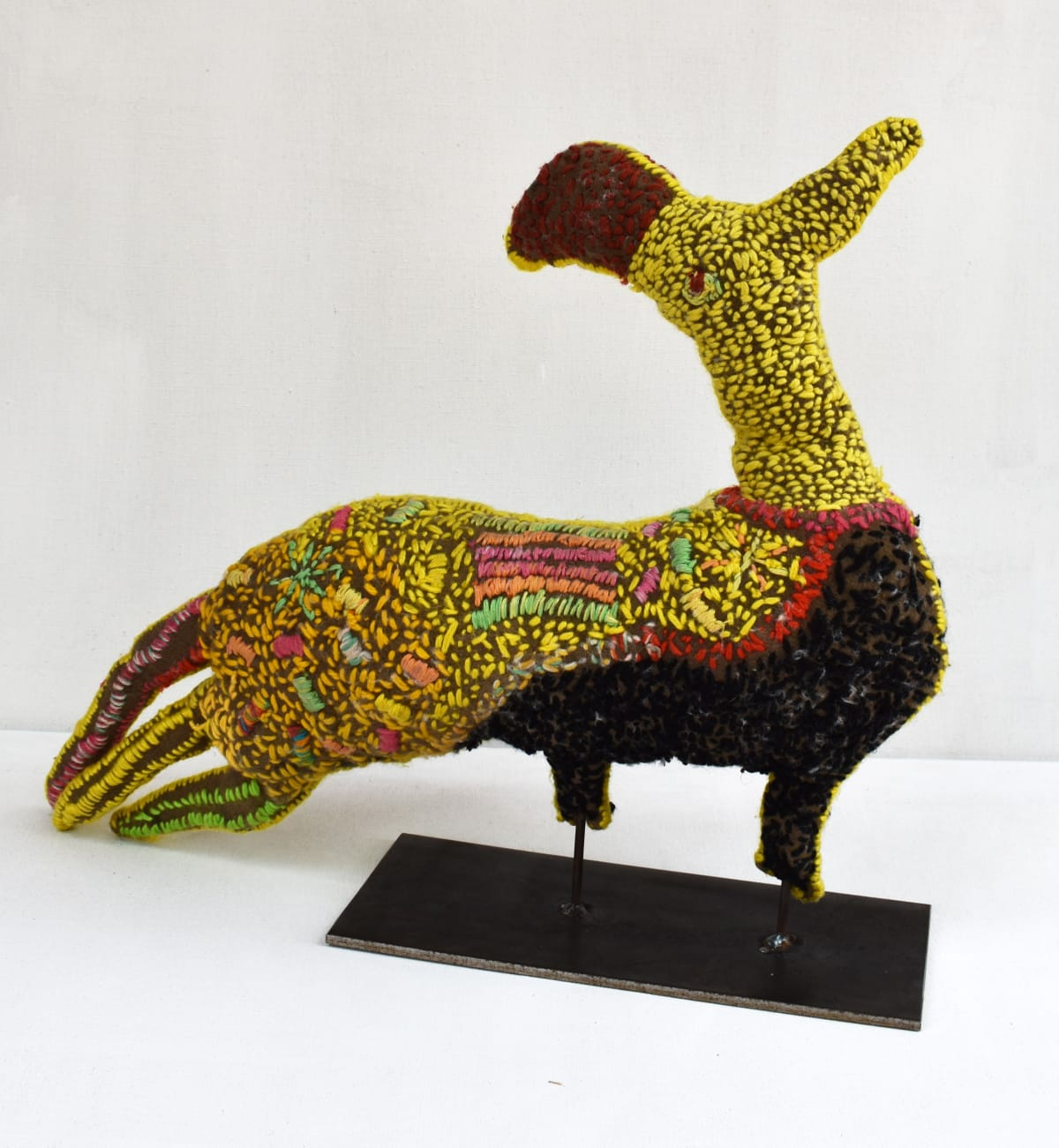 Beth Ebatarinja Yellow Bird mixed media 55 x 47 x 12 cm