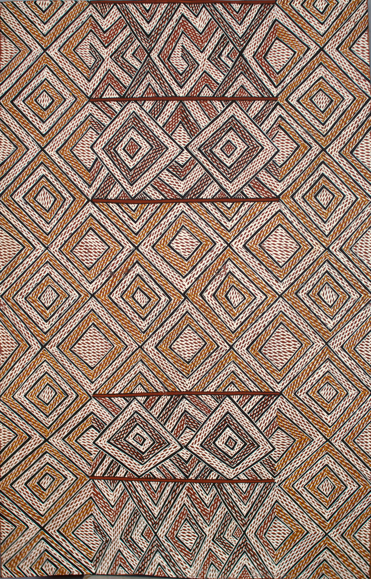 Garawan Wanambi Unititled (Luck) natural earth pigment on bark 89 x 57 cm