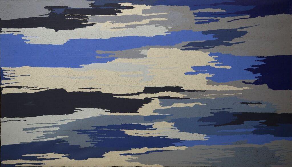 Rachel Mipantjili Lionel Kapi Wankanya acrylic on linen 170 x 100 cm