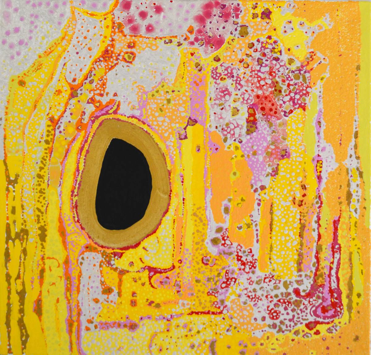 Daniel Walbidi Tjunkulji 2018 acrylic on linen 60 x 60 cm