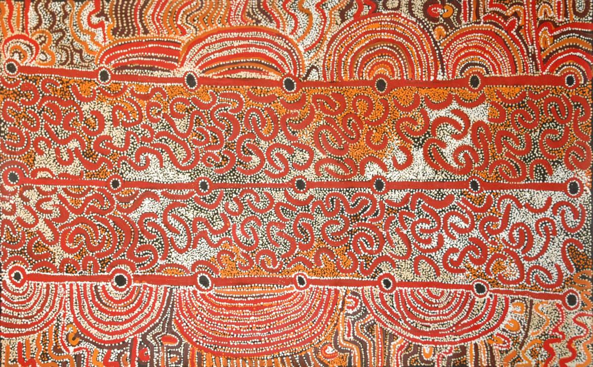 Hector Tjupuru Burton Anumara Tjukurpa acrylic on linen 122 x 198 cm