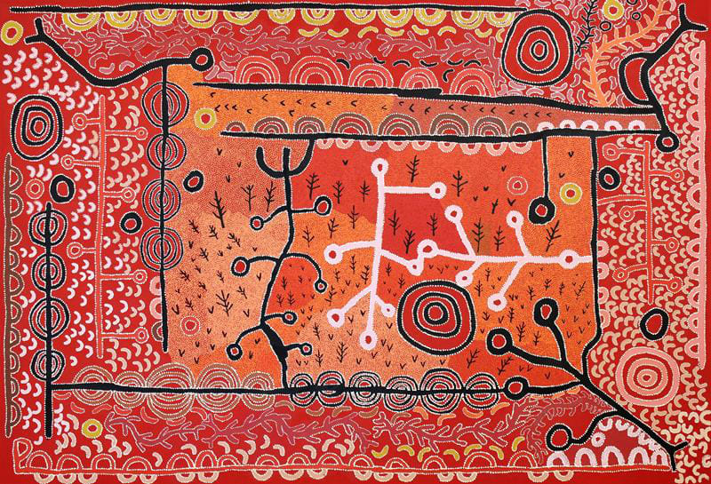 Peter Mungkuri Ngura (Country) acrylic on canvas 167 x 240 cm