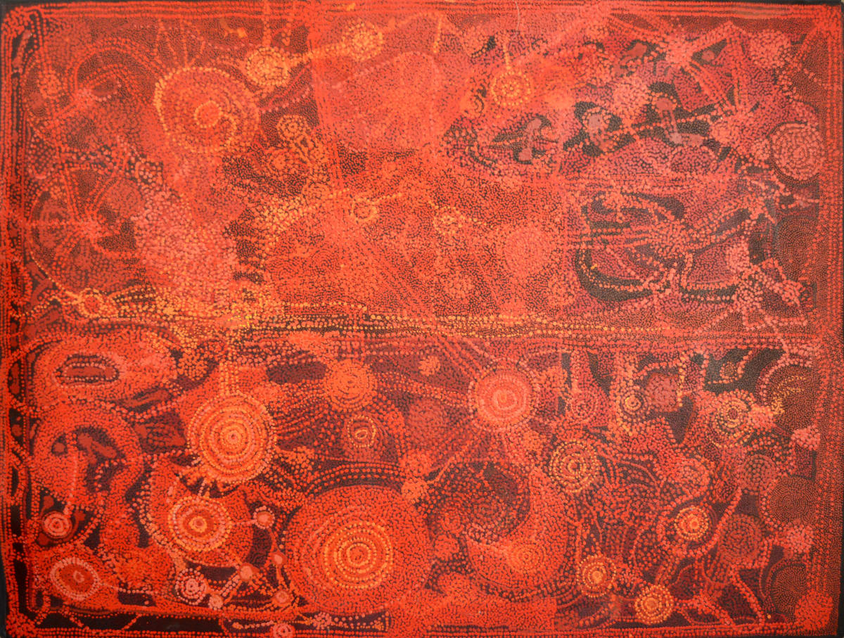 Matjangka (Nyukana) Norris Untitled acrylic on linen 200 x 153 cm