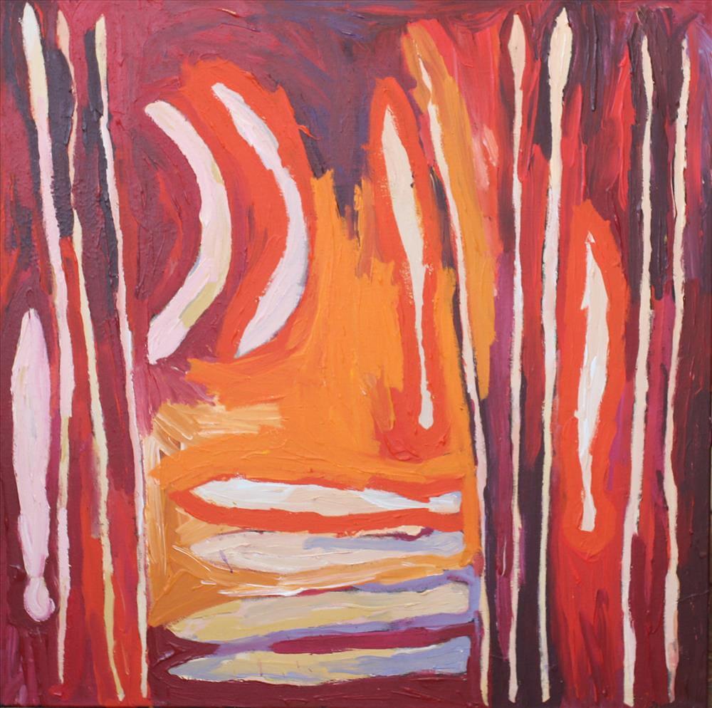 Brenton Ken Ngayuku ngura- my country acrylic on linen 122 x 122 cm