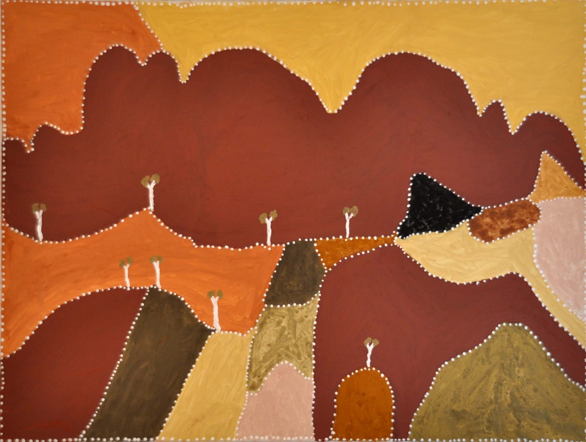 Patrick Mung Mung Gooloodoorruk Ngarrangarni natural ochre and pigments on canvas 120 x 90 cm