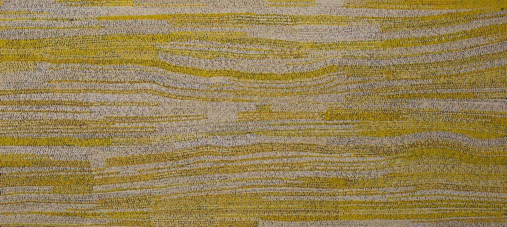 Yurpiya Lionel Anumara acrylic on linen 150 x 68 cm