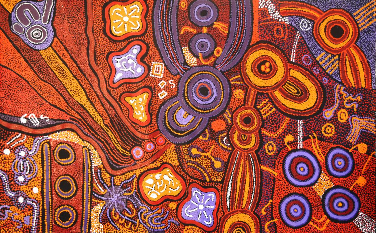 Clarise Tunkin Malilu Tjukurpa acrylic on canvas 120 x 76 cm