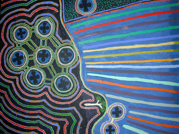 Harry Parlurn Bullen (Nabiru) Wirnpa 2005 acrylic on canvas 90 x 70 cm