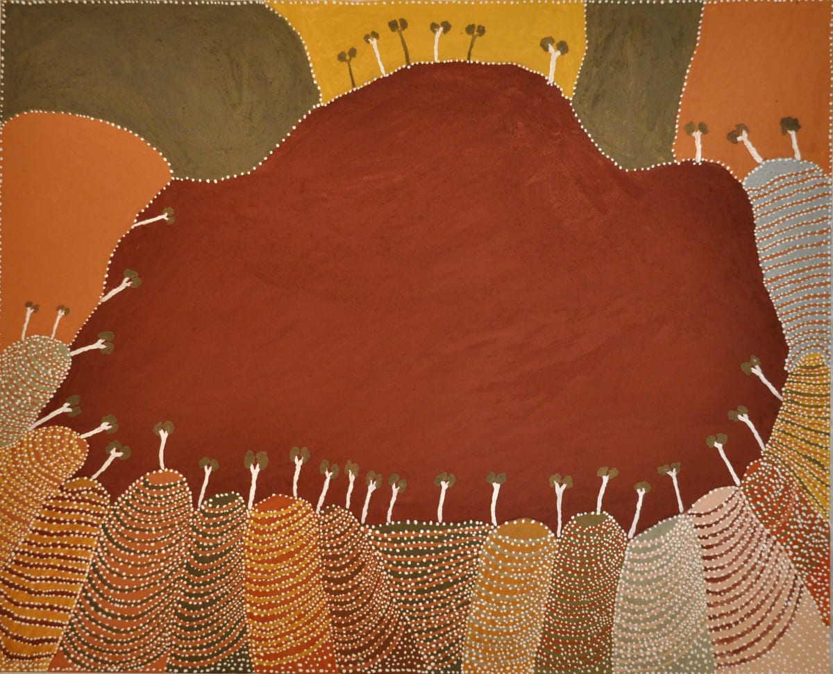 Patrick Mung Mung Wunipa Spring natural ochre and pigments on canvas 120 x 150 cm