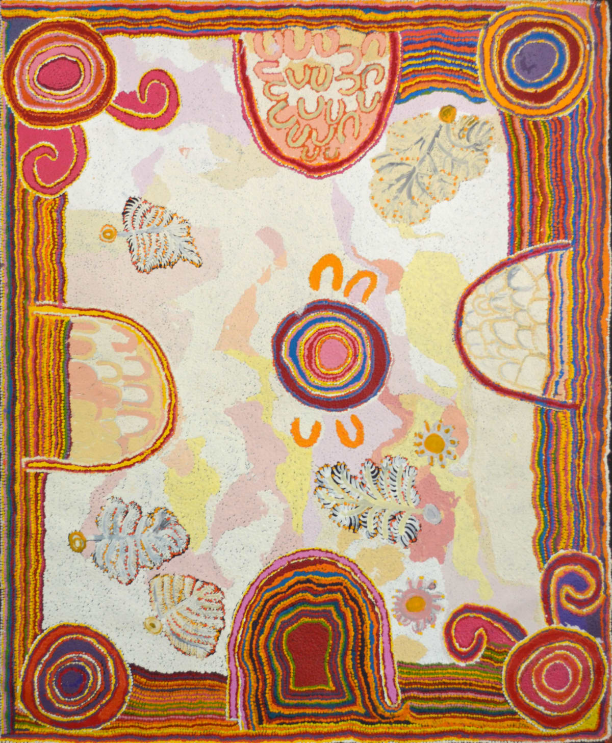 Puntjina Monica Watson Pukara acrylic on canvas 147 x 121 cm